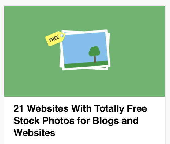 21 Websites With Totally Free Stock Photos for Blogs and Websites