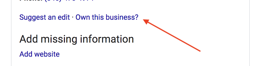 Own this business? | How To Claim Your Google My Business Profile