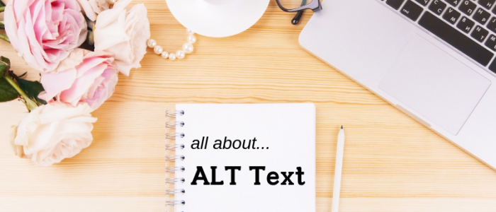 Laptop on Desk: What is ALT Text? - And Why You Need It | Amanda MacMaster | MacManda Media